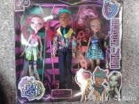 Кукла монстр хай большие 25см, набор 3в1