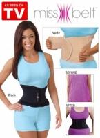 Пояс miss belt (мисс белт ,L/XL, 50-54 (81-91 см) цвет черный