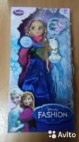 Кукла из Frozen Холодное Сердце + снеговик, муз