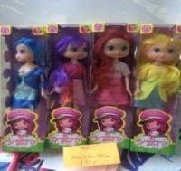 Кукла одинарная с разноцветными волосами